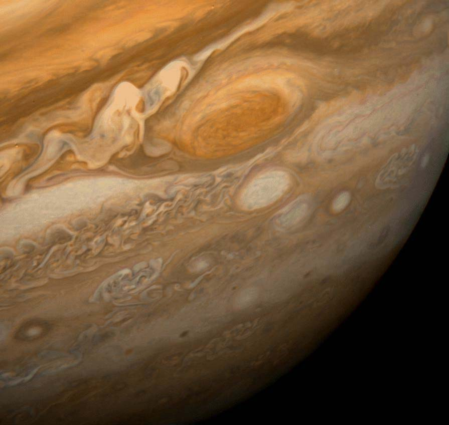 Jupiter's Great Red Spot, as photographed by Voyager 1